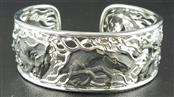 Beautiful 18KW Horse Bangle by Magerit 47.1 grams Retail $6995